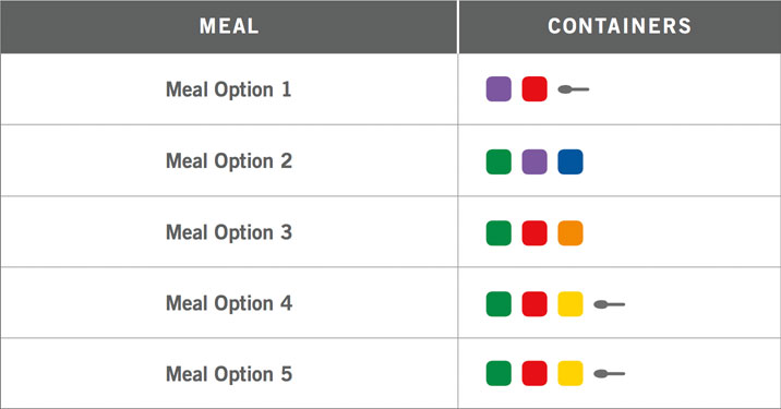 80 day obsession eating plan a meal options